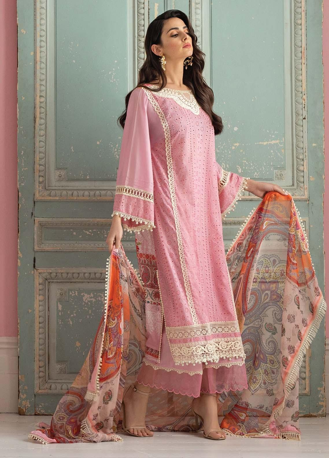 Vital By Sobia Nazir Embroidered Lawn Suits Unstitched 3 Piece SN21V 5B - Summer Collection
