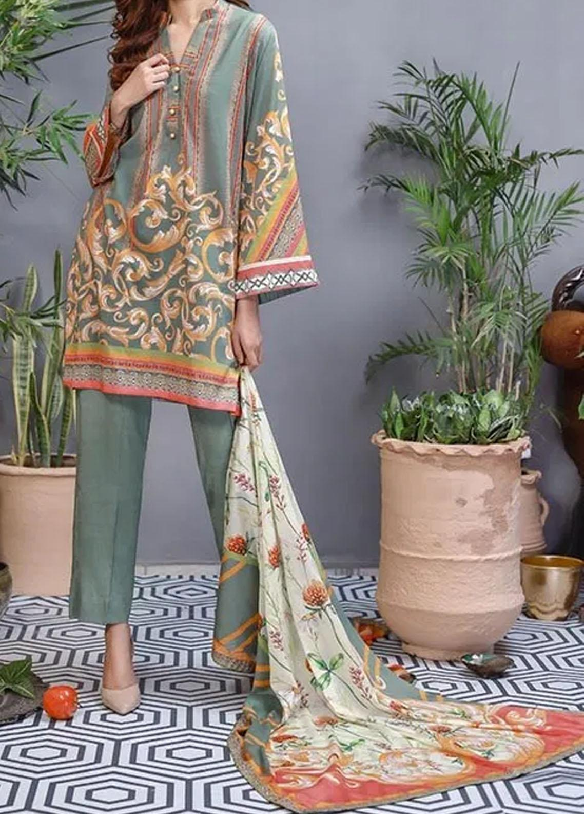 Soffio Printed Lawn Unstitched 2 Piece Suit SF20KH SK-000 - Summer Collection