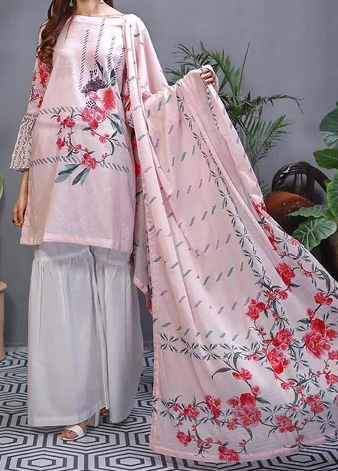 Soffio Printed Lawn Unstitched 2 Piece Suit SF20KH SK-011 - Summer Collection