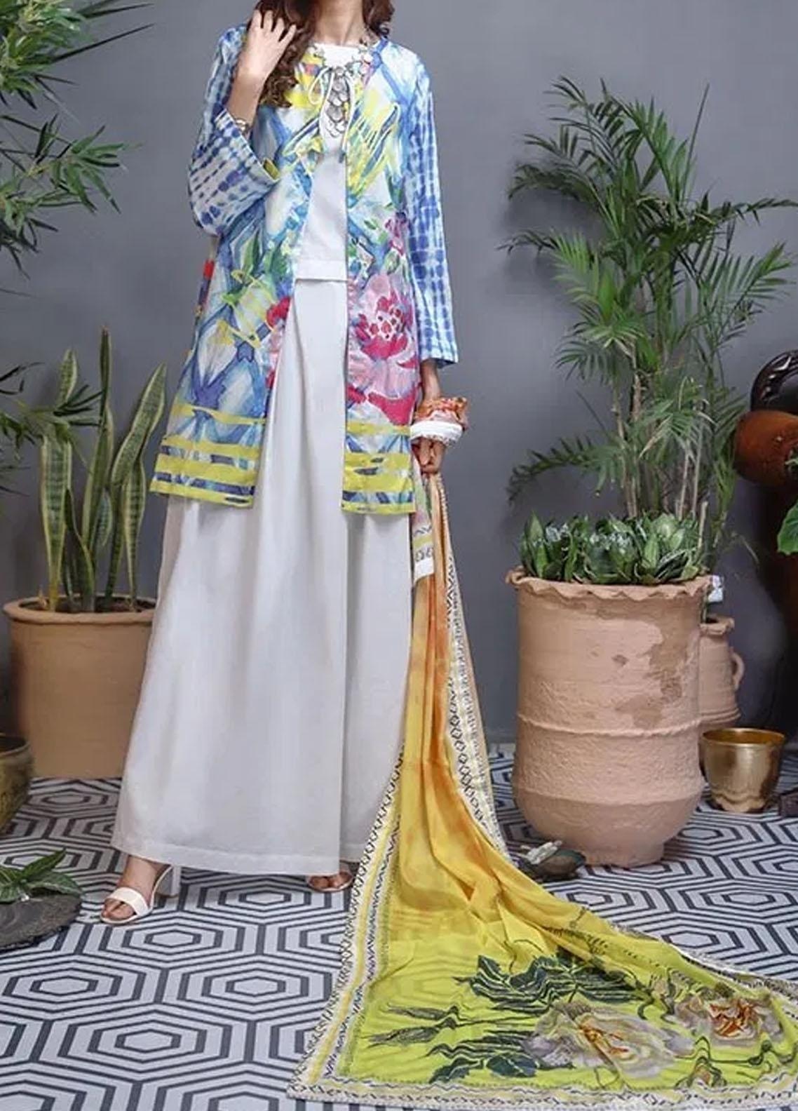 Soffio Printed Lawn Unstitched 2 Piece Suit SF20KH SK-044 - Summer Collection