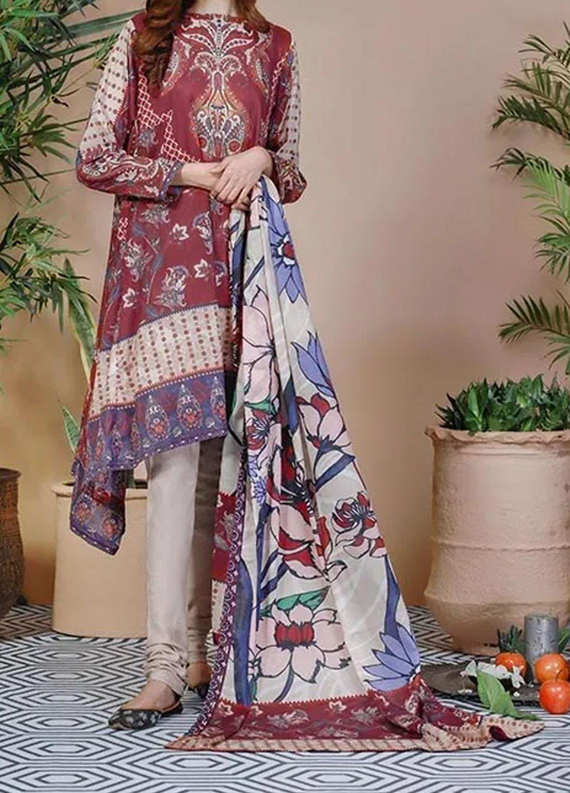 Soffio Printed Lawn Unstitched 2 Piece Suit SF20KH SK-077 - Summer Collection