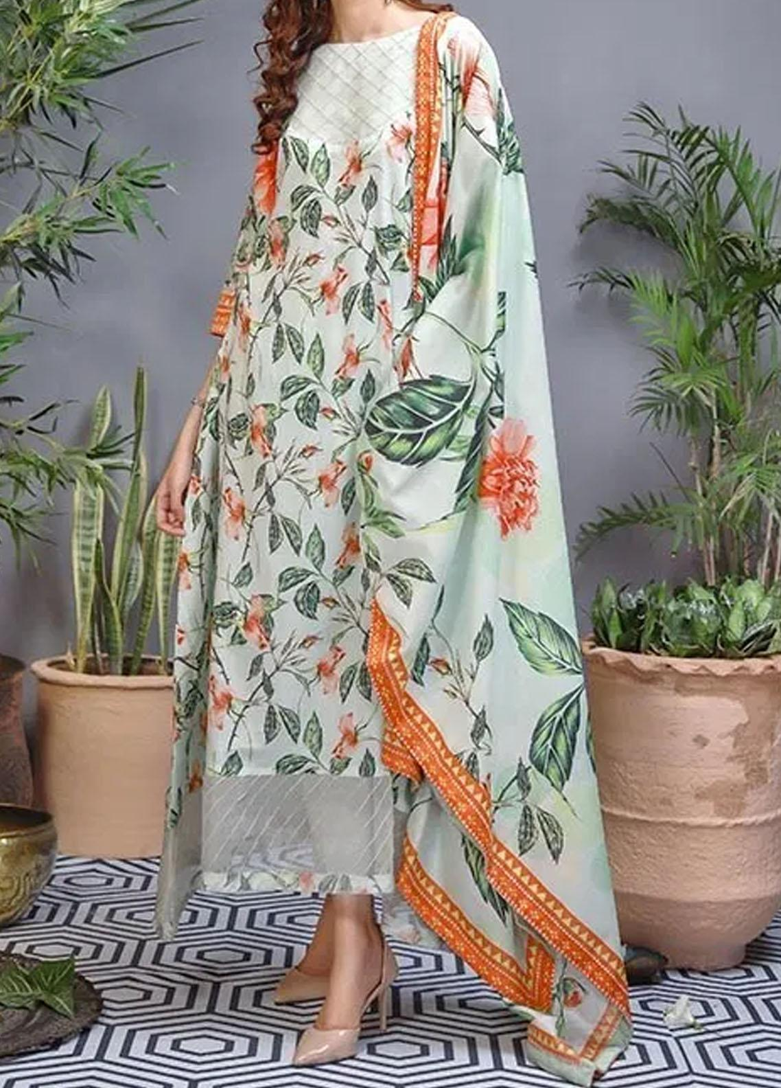 Soffio Printed Lawn Unstitched 2 Piece Suit SF20KH SK-088 - Summer Collection