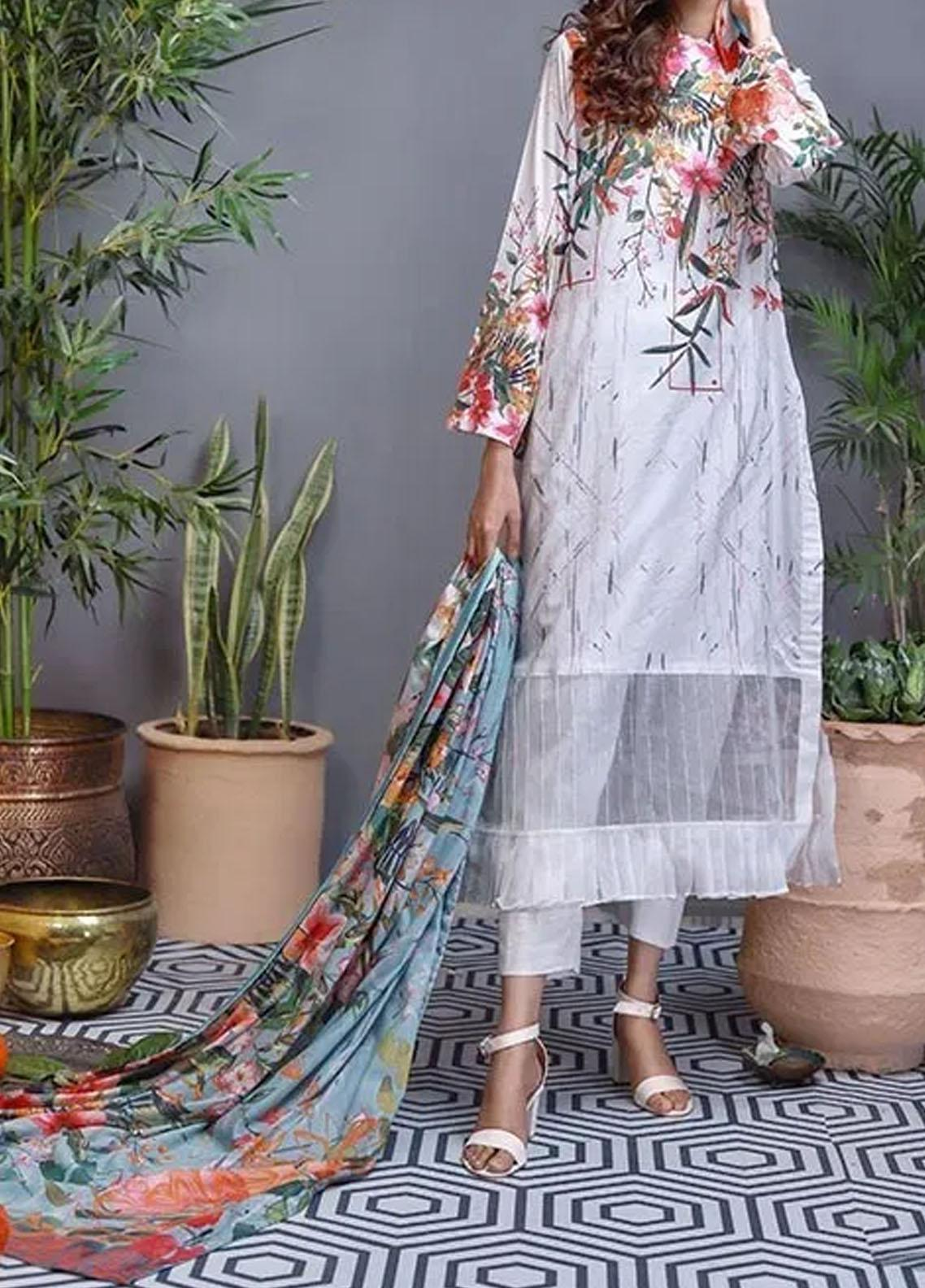 Soffio Printed Lawn Unstitched 2 Piece Suit SF20KH SK-099 - Summer Collection