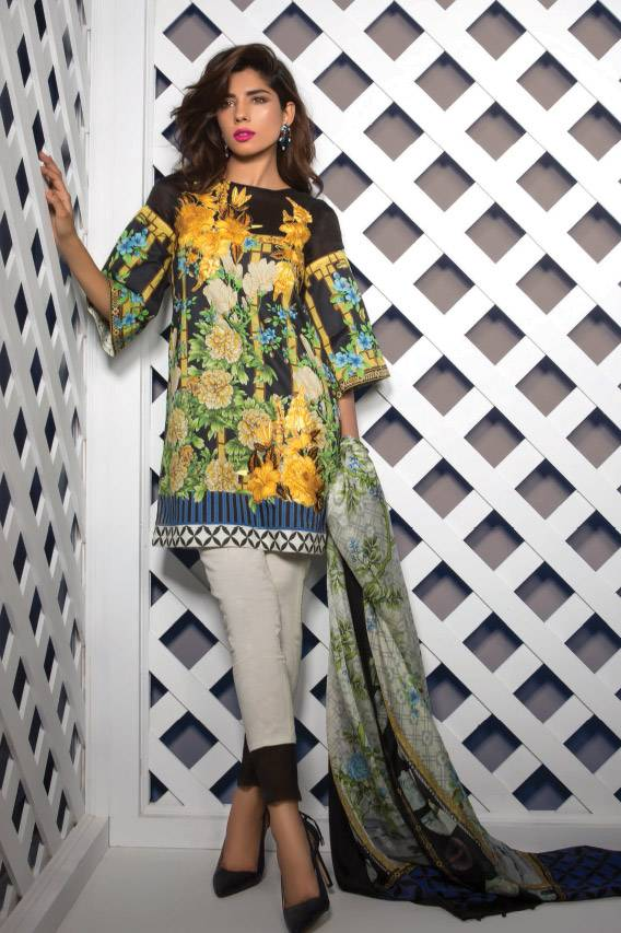 Sapphire Embroidered Lawn Unstitched 3 Piece Suit SP17E Chinese Dynasty B