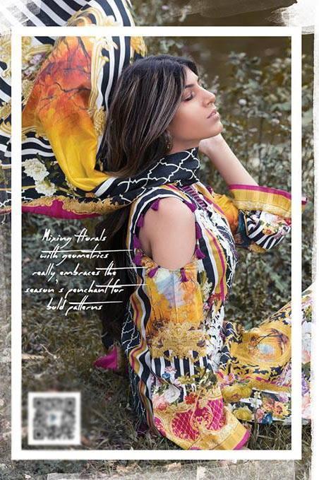 Sapphire Embroidered Lawn Unstitched Suit 3 Piece Suit SP17L2 Summer Bloom A