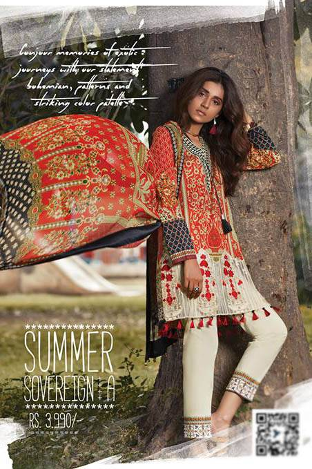 Sapphire Embroidered Lawn Unstitched Suit 3 Piece Suit SP17L2 Summer Sovereign A