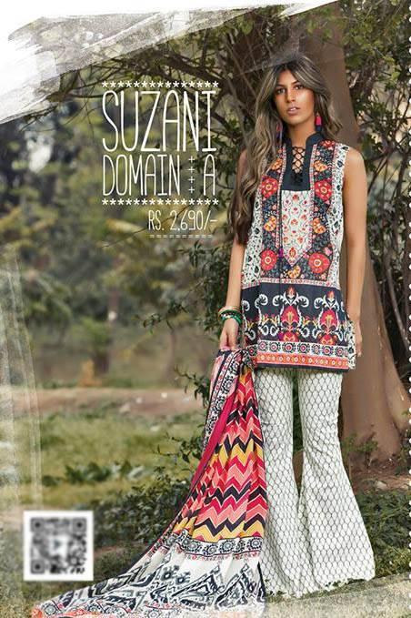 Sapphire Embroidered Lawn Unstitched Suit 3 Piece Suit SP17L2 Suzani Domain A