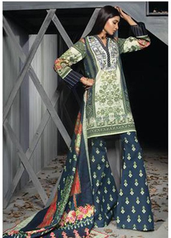 Sapphire Embroidered  Unstitched 3 Piece Suit SP17W2 Beauteous Prime A