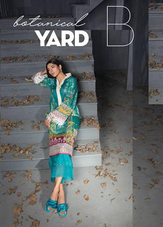 Sapphire Printed Unstitched Khaddar SP17W2 Botanical Yard B