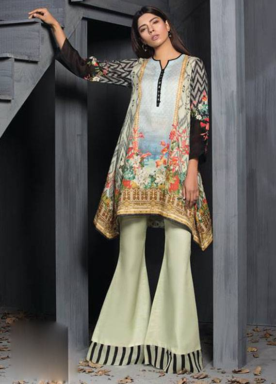 Sapphire Printed Unstitched Suit SP17W2 Floral Flock A