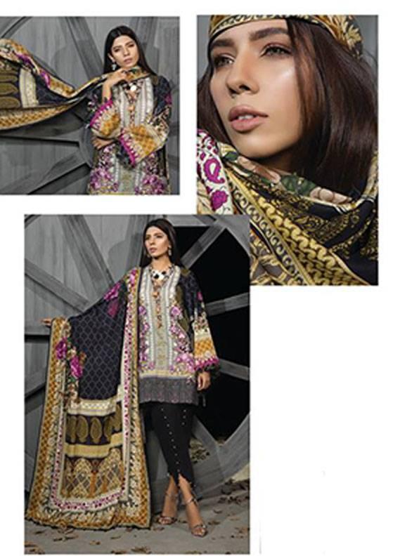 Sapphire Embroidered Khaddar Unstitched 3 Piece Suit SP17W2 Folk Fascination A