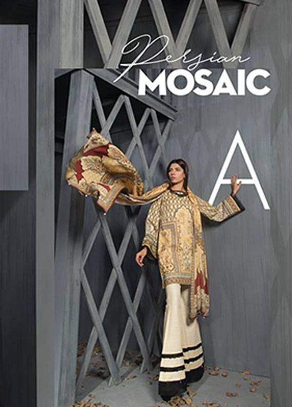 Sapphire Printed Viscose Unstitched 2 Piece Suit SP17W2 Persian Mosaic A