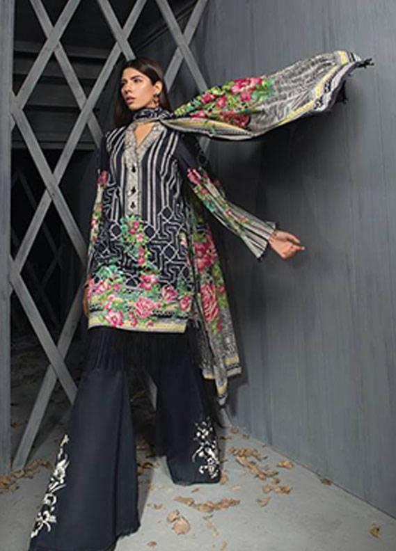 Sapphire Embroidered Unstitched 2 Piece Suit SP17W2 Sublime Flora A