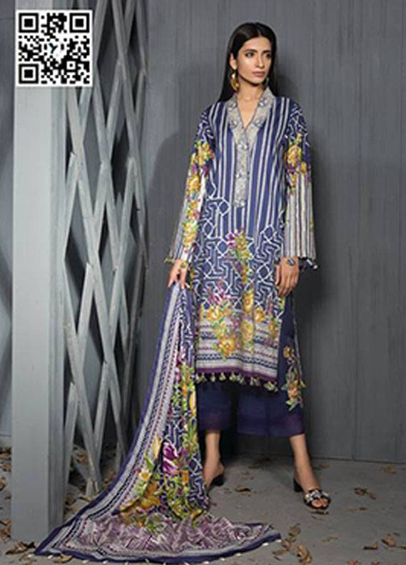 Sapphire Embroidered Unstitched 2 Piece Suit SP17W2 Sublime Flora B