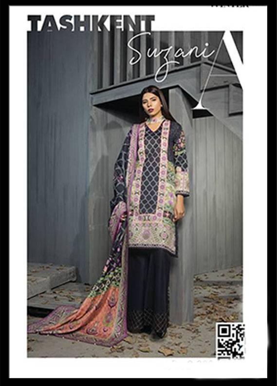 Sapphire Embroidered Khaddar Unstitched 2 Piece Suit SP17W2 Tashkent Suzani A