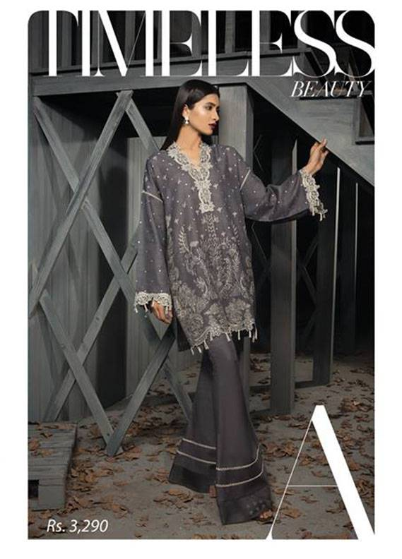 Sapphire Embroidered  Unstitched 2 Piece Suit SP17W2 Timeless Beauty A
