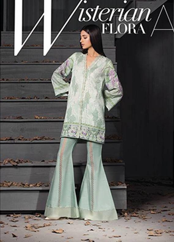 Sapphire Printed Khaddar Unstitched 2 Piece Suit SP17W2 Wisterian Flora A