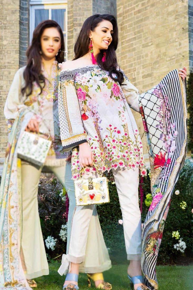 Saira Rizwan Embroidered Lawn Unstitched 3 Piece Suit SR17L 01