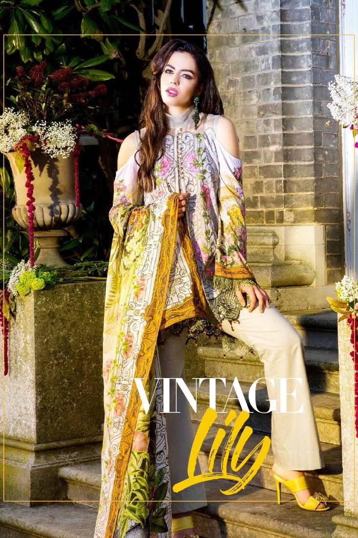Saira Rizwan Embroidered Lawn Unstitched 3 Piece Suit SR17L 05