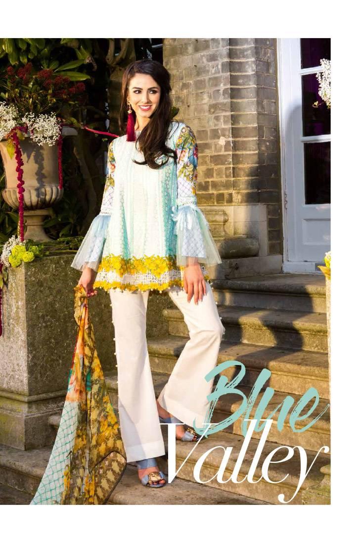 Saira Rizwan Embroidered Lawn Unstitched 3 Piece Suit SR17L 06
