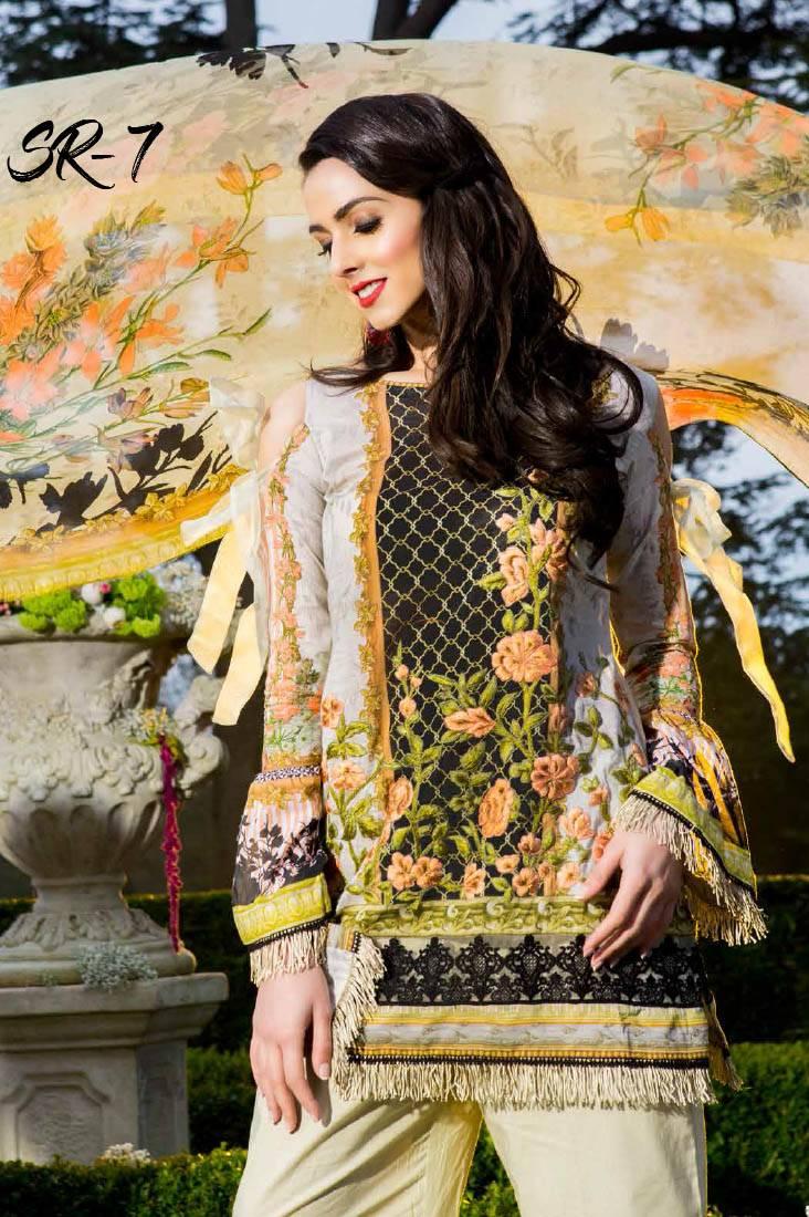 Saira Rizwan Embroidered Lawn Unstitched 3 Piece Suit SR17L 07