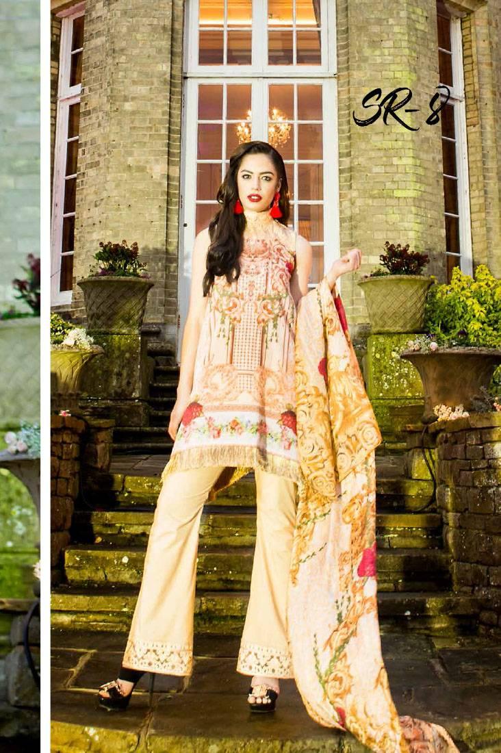 Saira Rizwan Embroidered Lawn Unstitched 3 Piece Suit SR17L 08