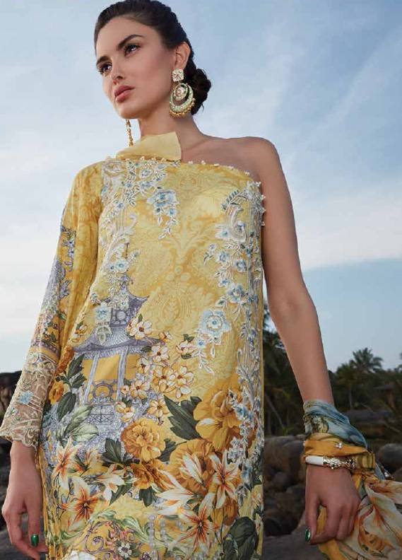 Saira Rizwan Embroidered Lawn Unstitched 3 Piece Suit SR18L 01 - Spring / Summer Collection