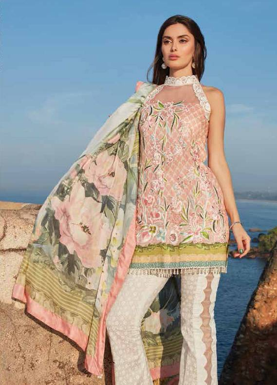 Saira Rizwan Embroidered Lawn Unstitched 3 Piece Suit SR18L 03 - Spring / Summer Collection