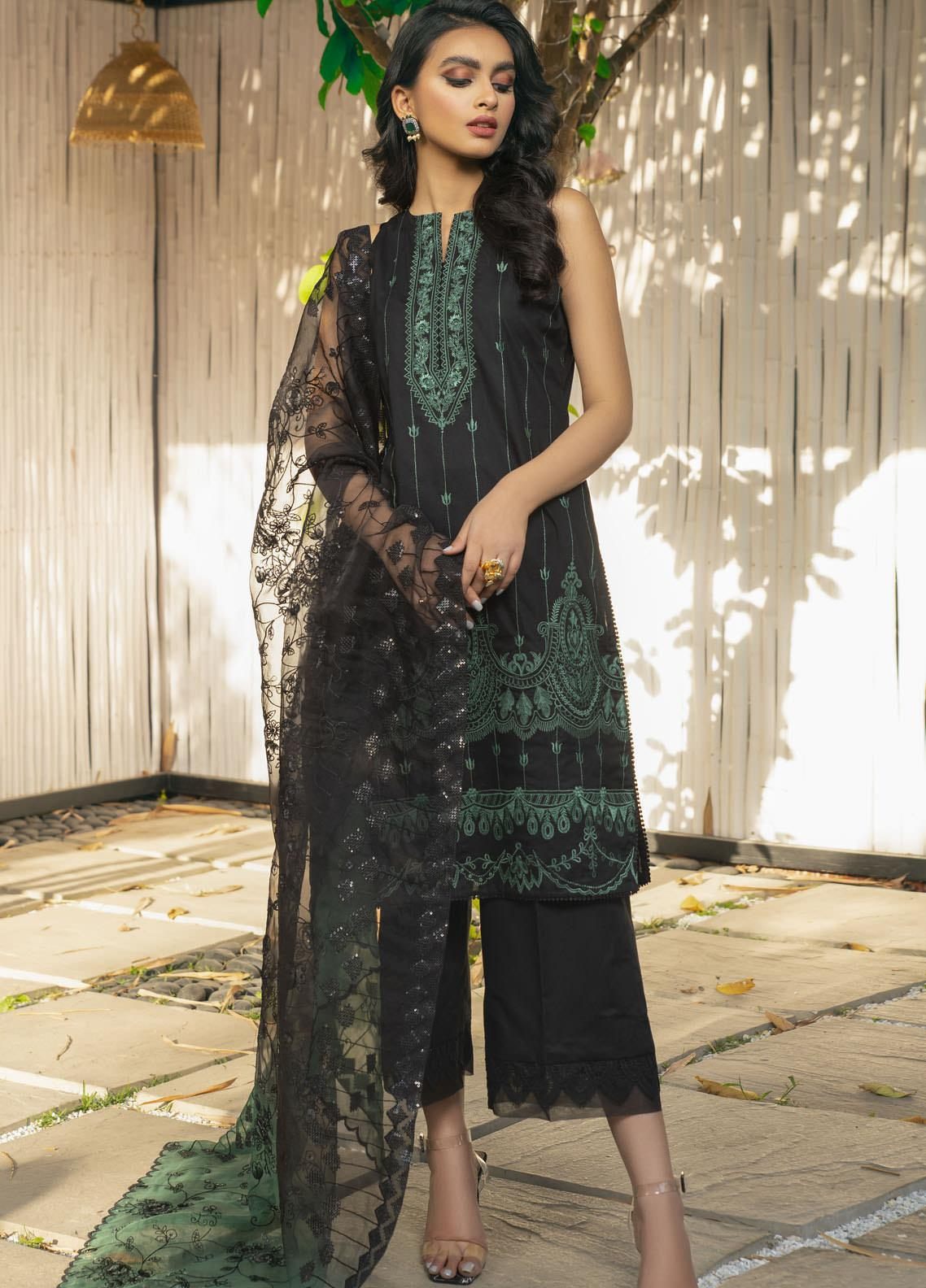 Saira Rizwan Embroidered Lawn Suits Unstitched 3 Piece SR21E 07 Esmeray - Eid Collection