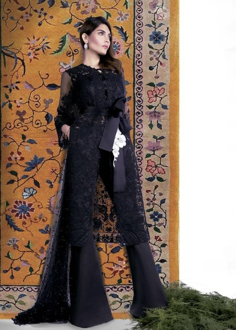 Sana Safinaz Embroidered Chiffon Unstitched 3 Piece Suit SS17L 4A
