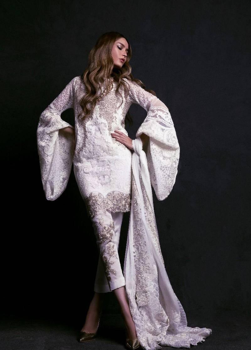 Sana Safinaz Embroidered Chiffon Unstitched 3 Piece Suit SS17L 6B