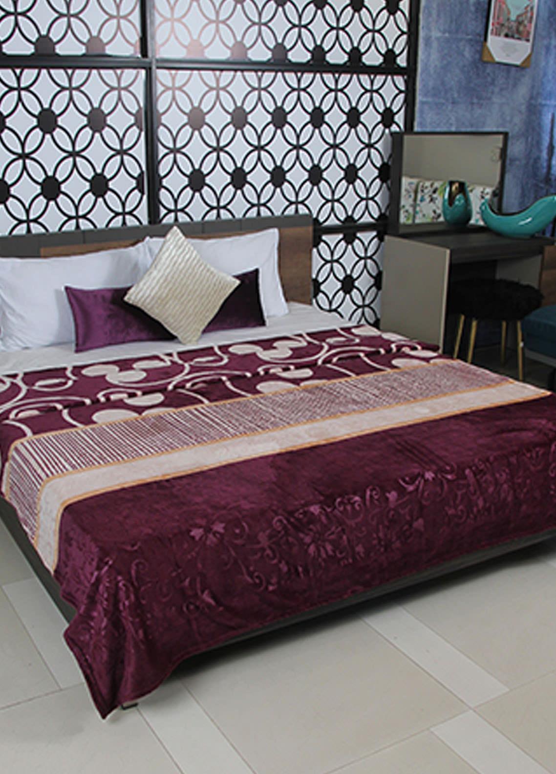 Plush Mink Double Bed Supreme Soft Finish Blankets 2 Ply Supremo-SMV221 - Home & Decor
