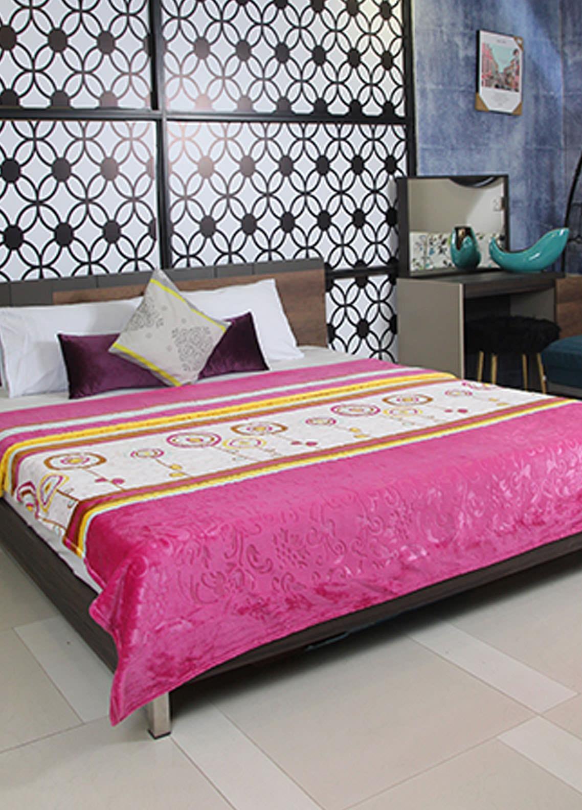 Plush Mink Double Bed Supreme Soft Finish Blankets 2 Ply Supremo-SMV222 - Home & Decor