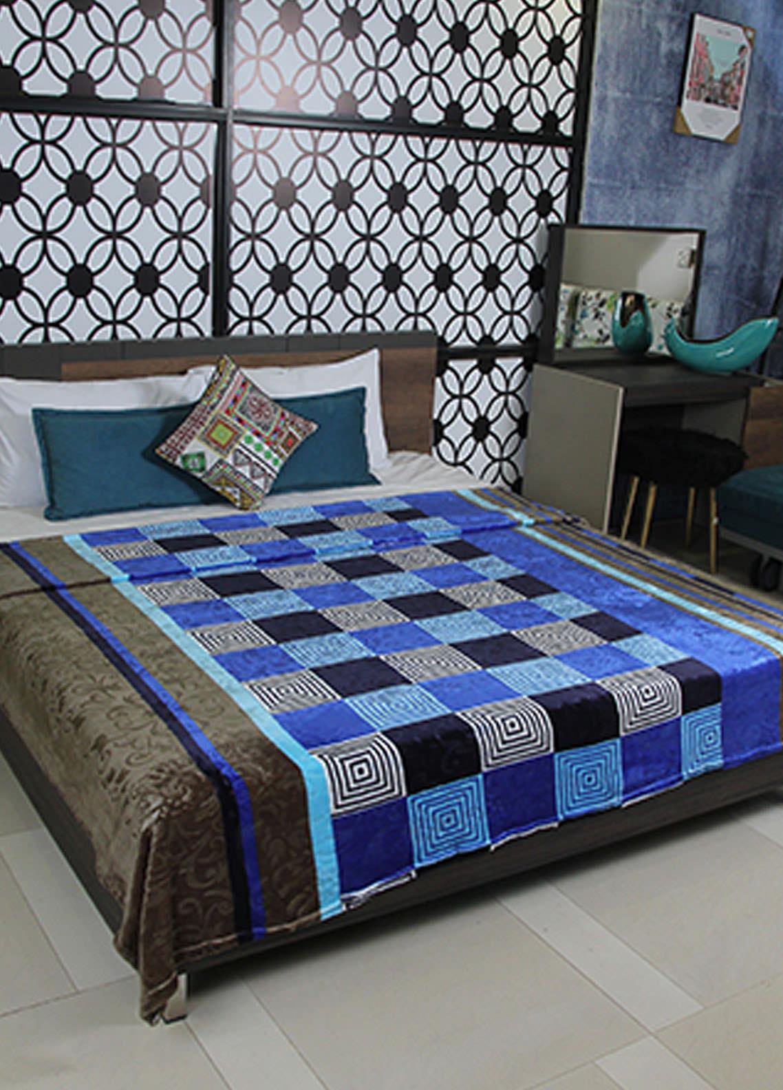 Plush Mink Double Bed Supreme Soft Finish Blankets 2 Ply Supremo-SMV225 - Home & Decor