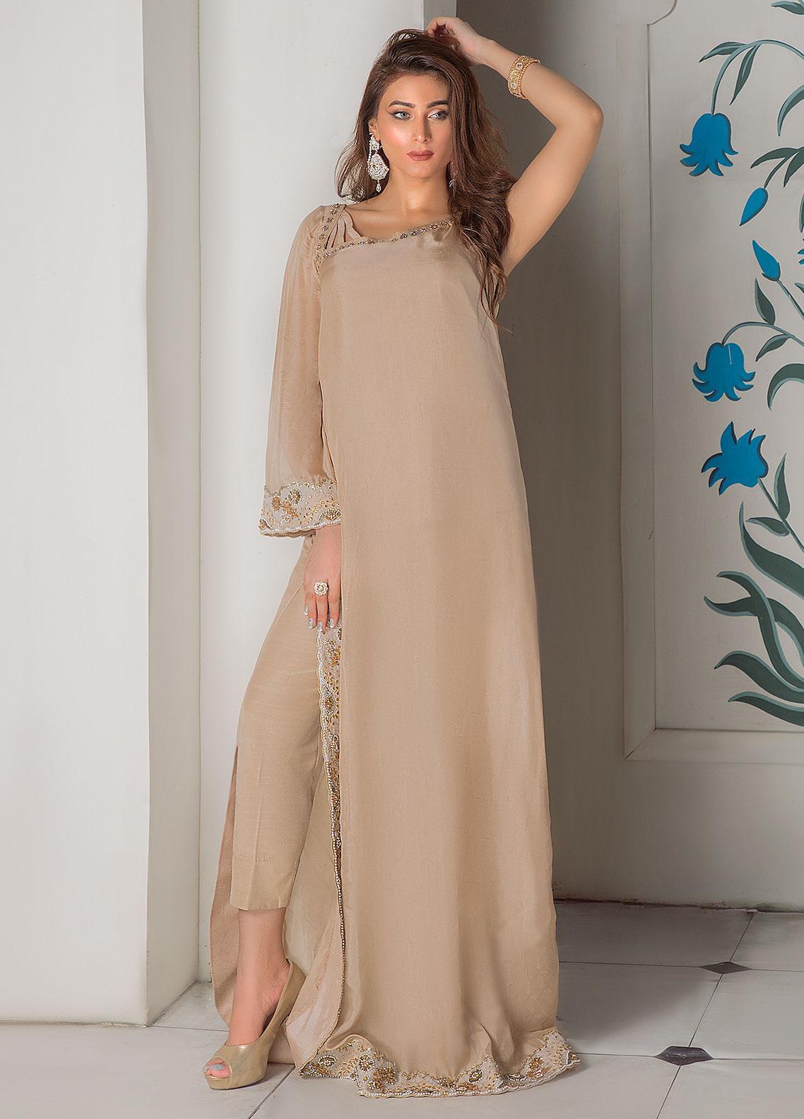 Surmai Luxury Pret Embroidered Grip 2 Piece Dress SLP-08