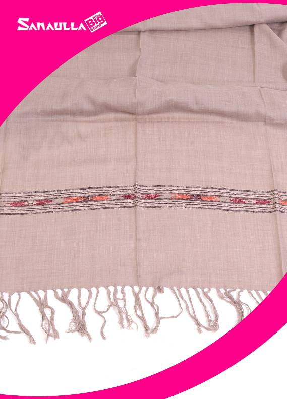 Beige Plain Kashmiri Shawls for men - SW 262