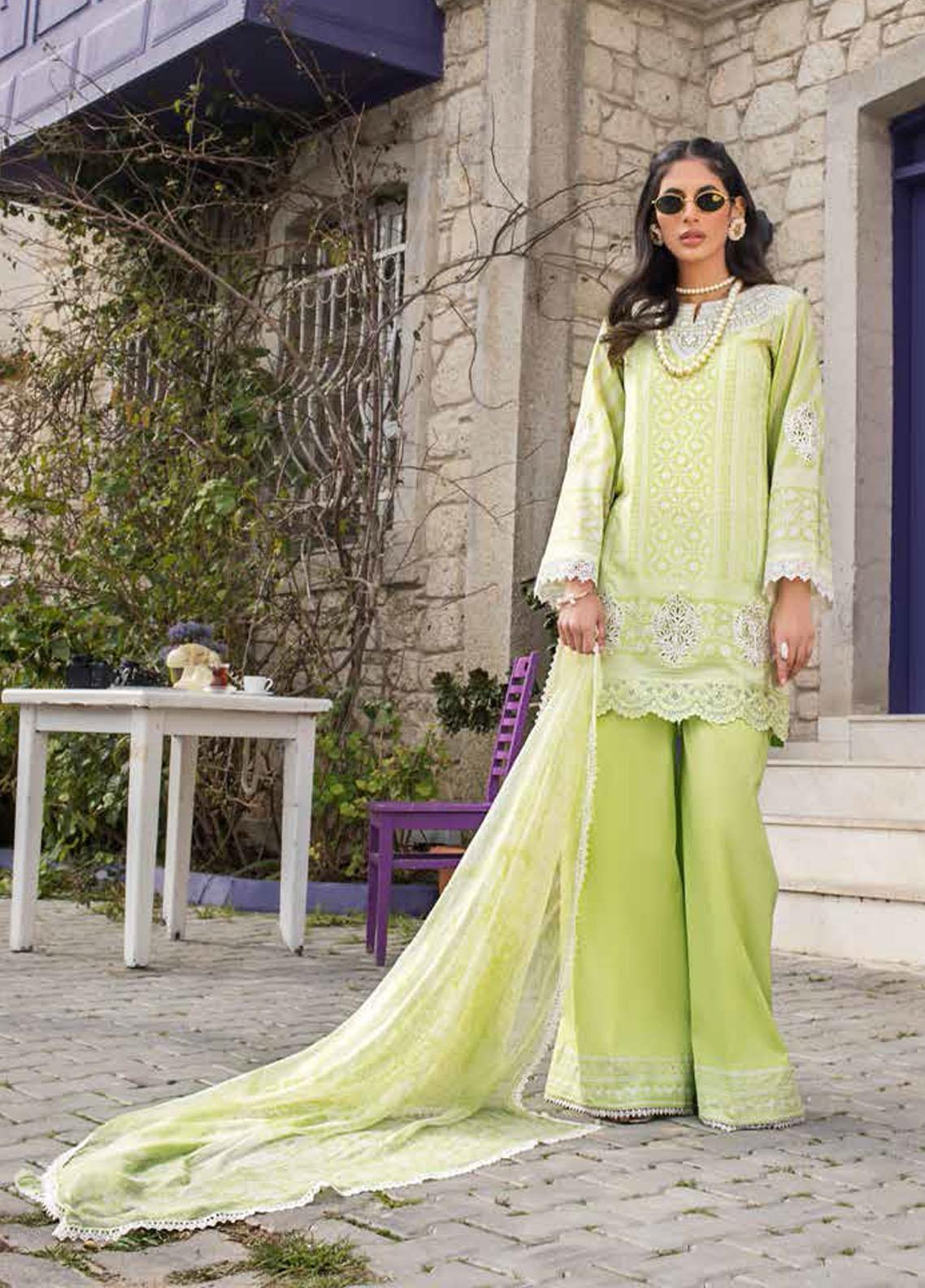 Tahra by Zainab Chottani Embroidered Lawn Suits Unstitched 3 Piece TZC21L 1A SUMMER FIZZ - Summer Collection