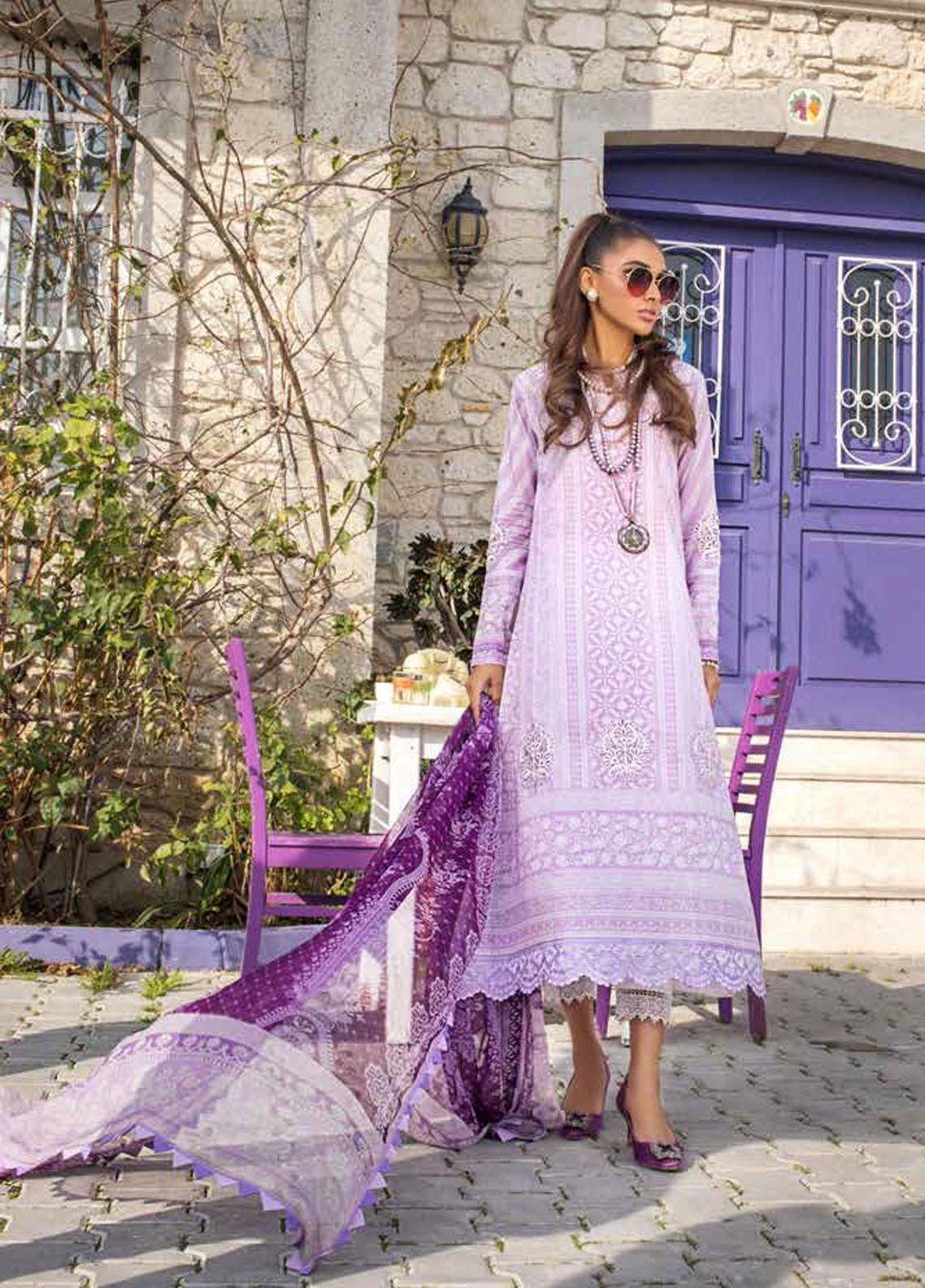 Tahra by Zainab Chottani Embroidered Lawn Suits Unstitched 3 Piece TZC21L 1B SUMMER FIZZ - Summer Collection