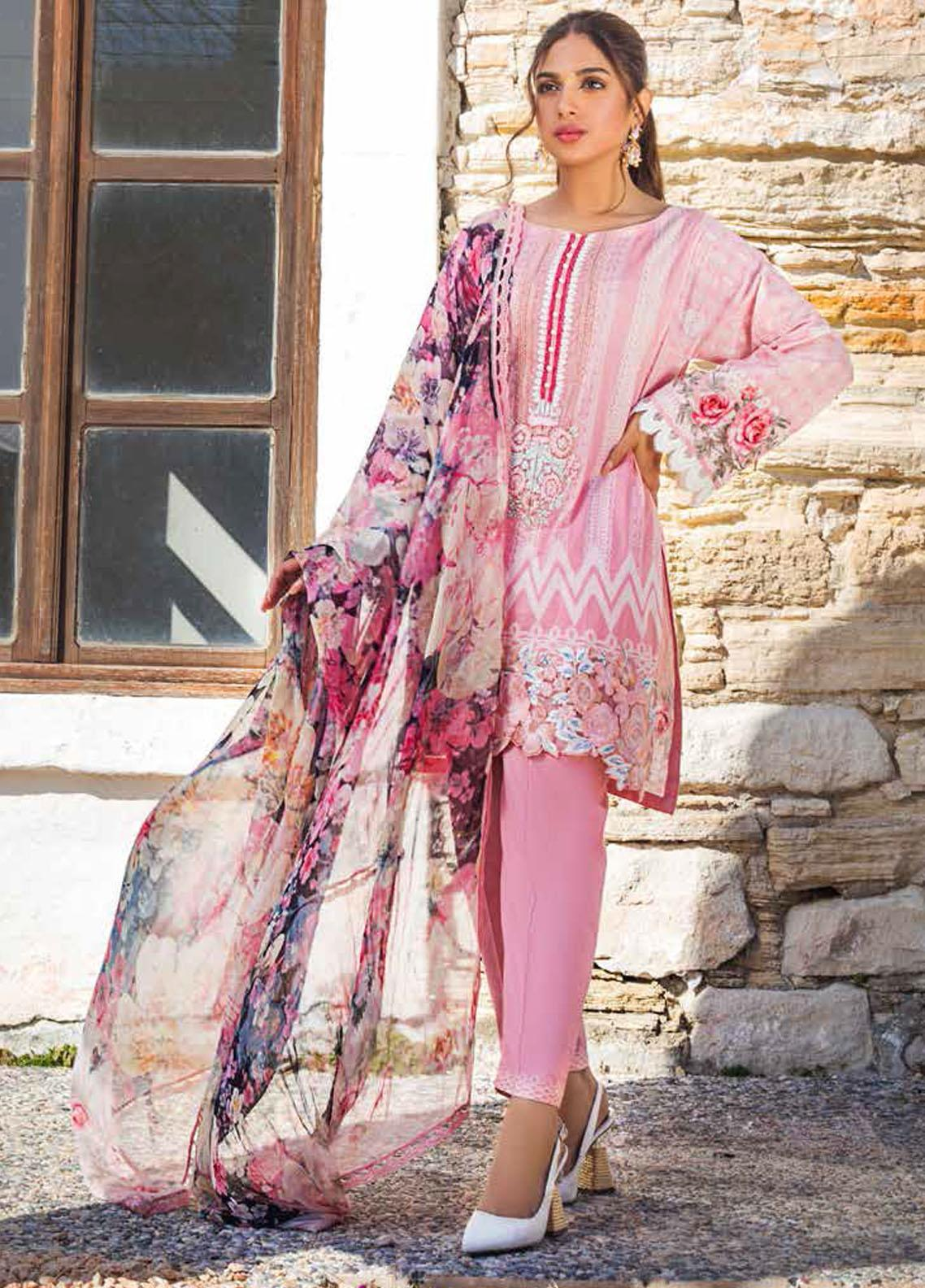 Tahra by Zainab Chottani Embroidered Lawn Suits Unstitched 3 Piece TZC21L 3A SEA PEARLS - Summer Collection