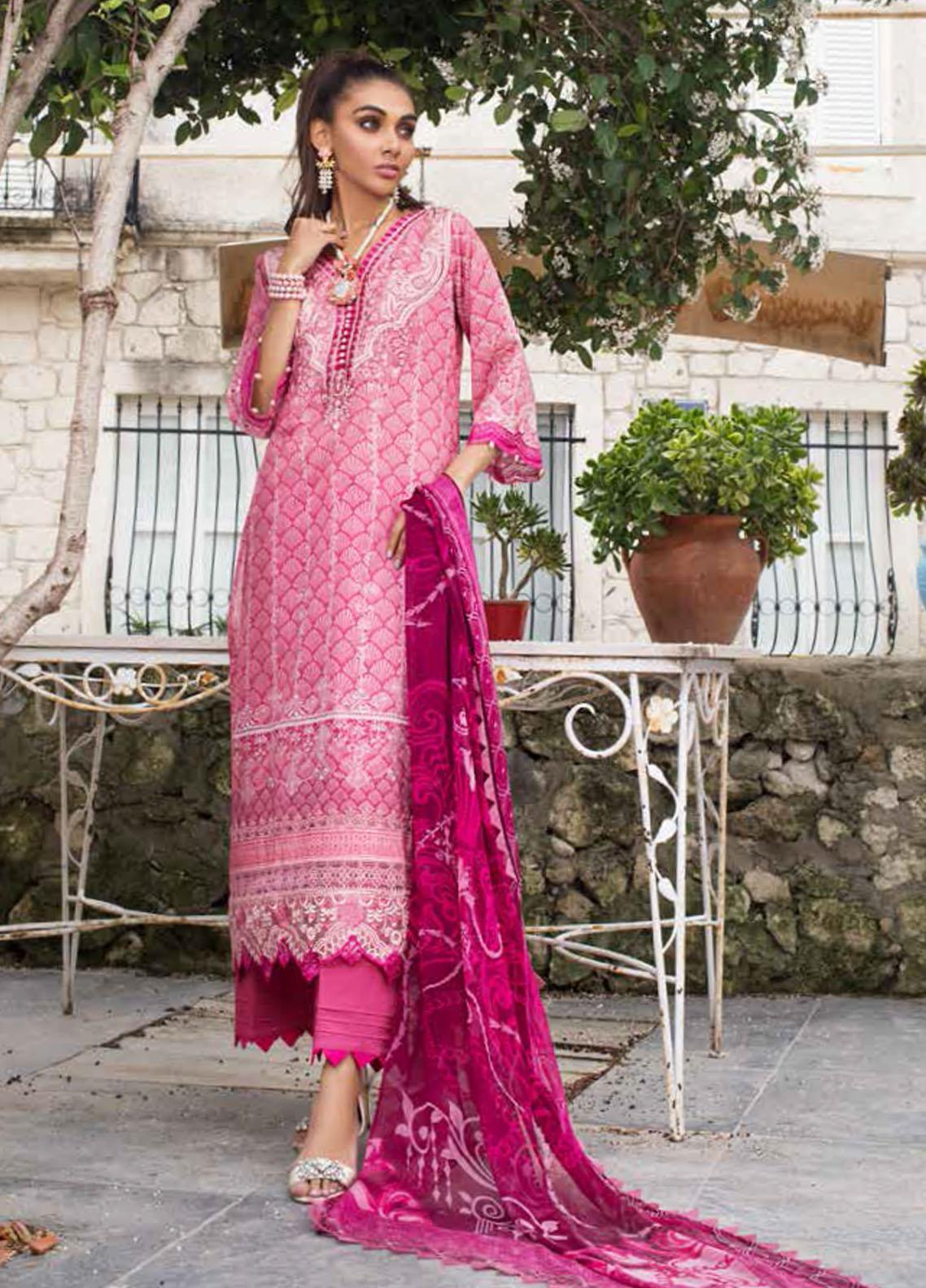 Tahra by Zainab Chottani Embroidered Lawn Suits Unstitched 3 Piece TZC21L 8B SUMMER GLORY - Summer Collection