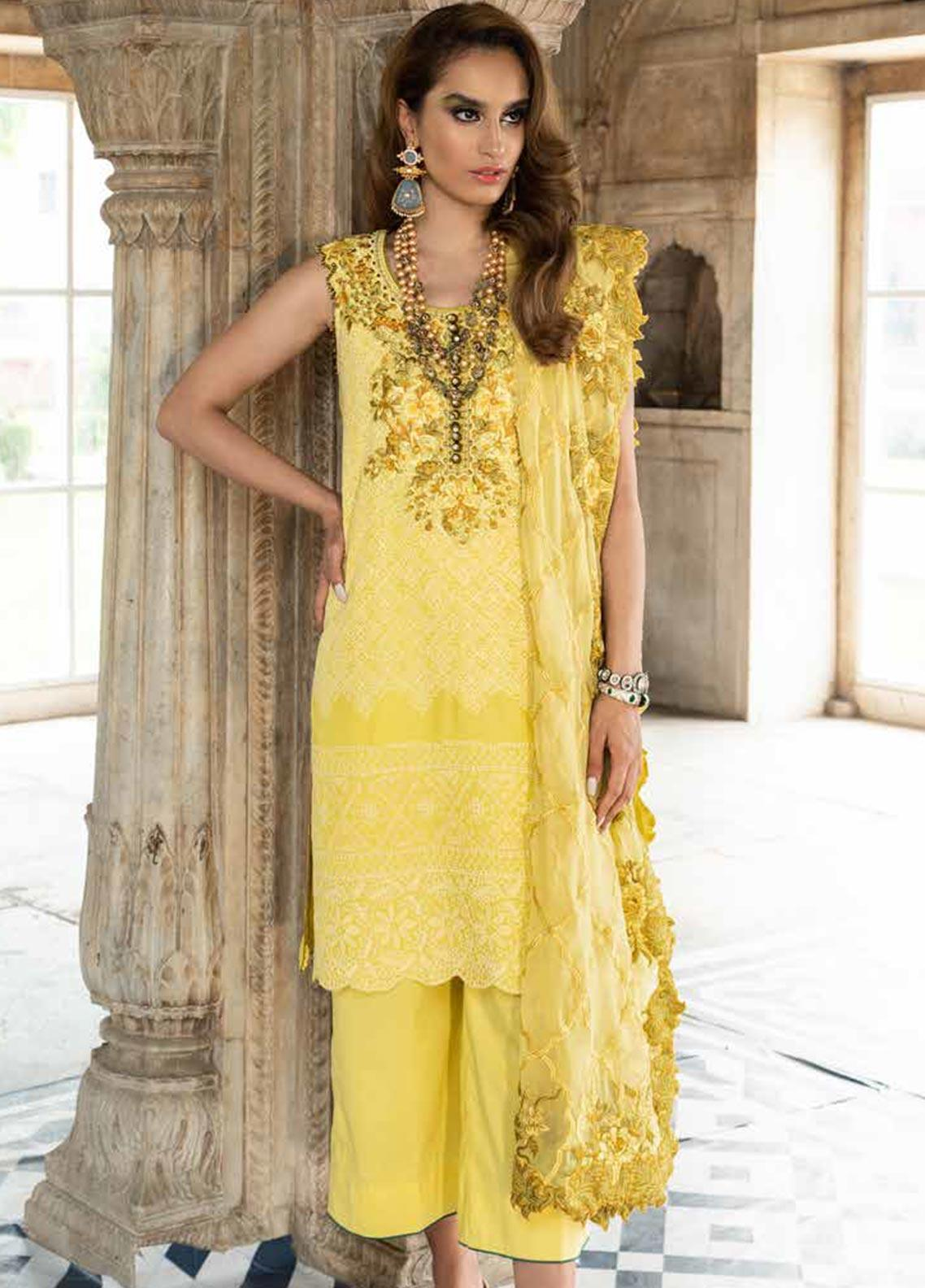 Tena Durrani Embroidered Chiffon Unstitched 3 Piece Suit TD19F 9 - Formal Collection