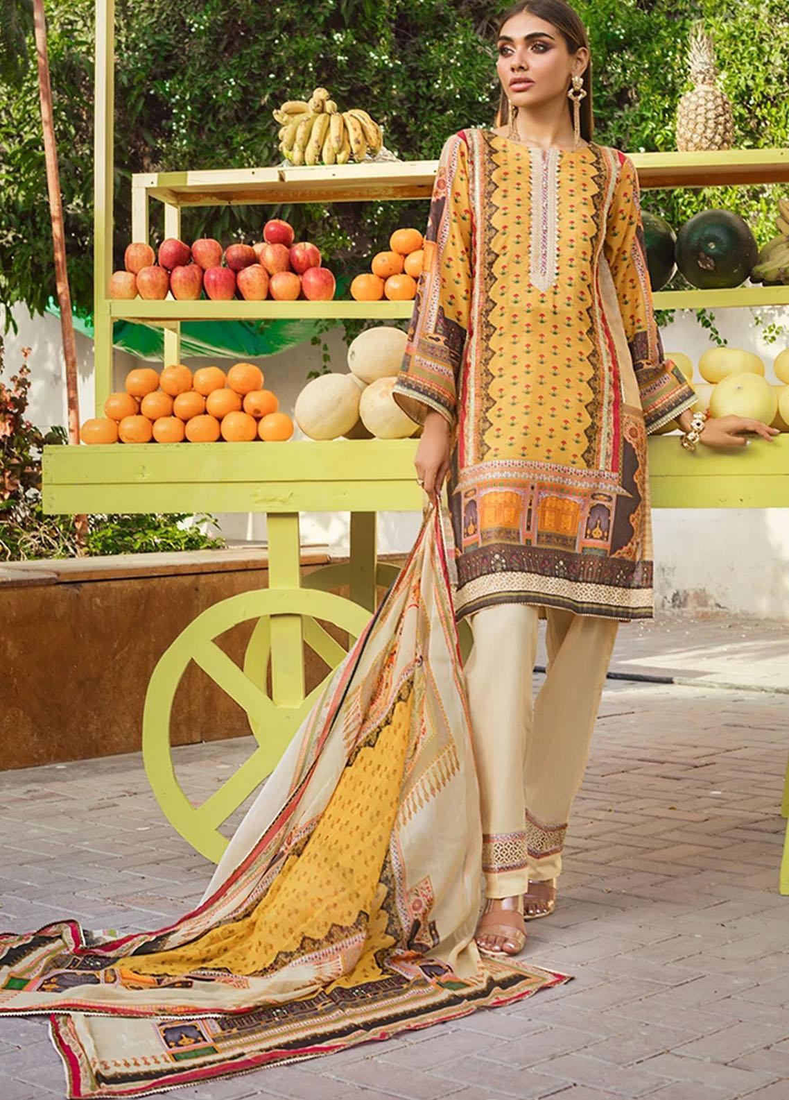 Threads & Motifs Pret Casual Cotton Net 2 Piece Suit THM21RW 7140