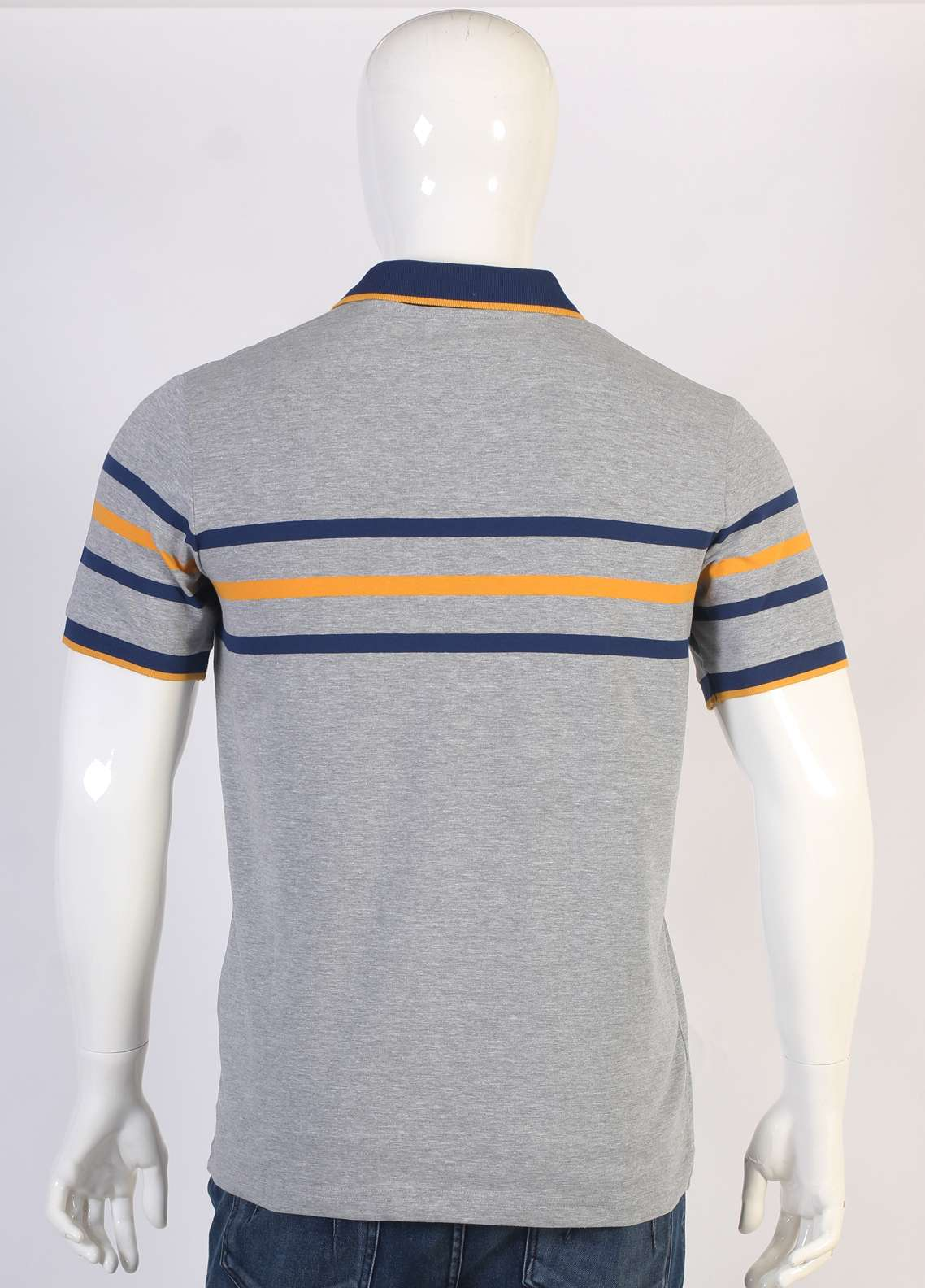 Sanaulla Exclusive Range Jersey Polo T-Shirts for Men - Grey TKM18S 1304-04