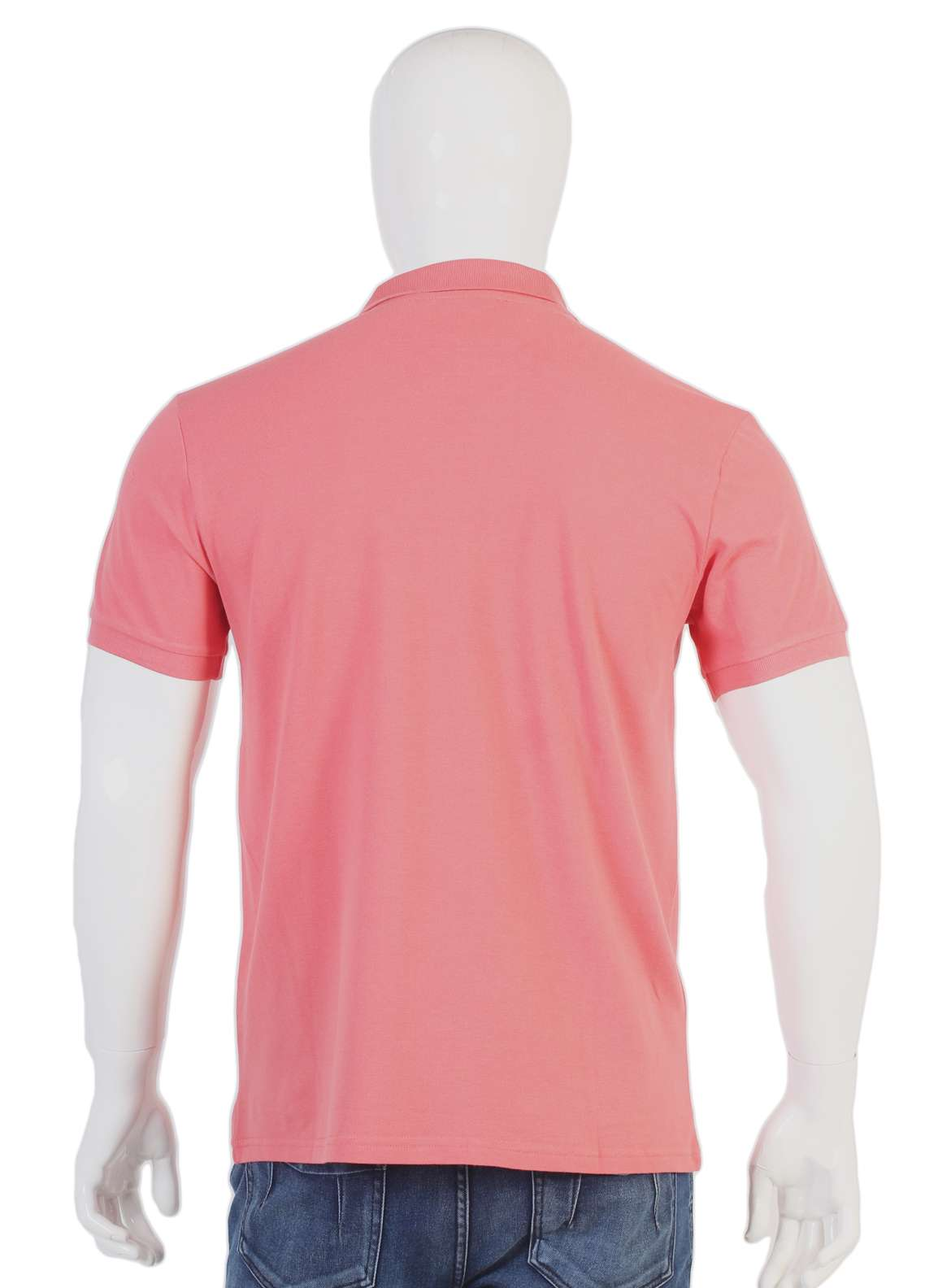 Sanaulla Exclusive Range Jersey Polo T-Shirts for Men - Pink TKM18S 321