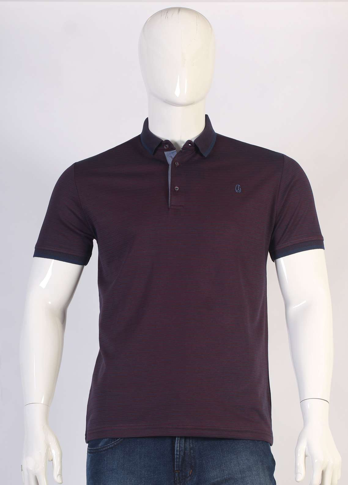 Sanaulla Exclusive Range Jersey Polo T-Shirts for Men - Purple TKM18S 361-05