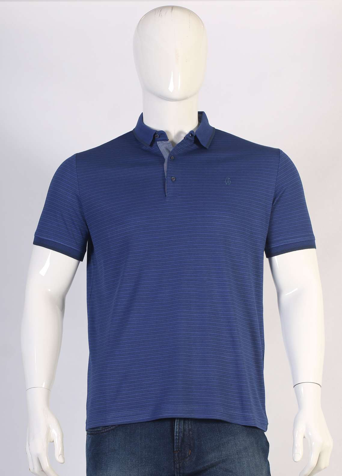 Sanaulla Exclusive Range Jersey Polo Men T-Shirts - Blue TKM18S 361-09