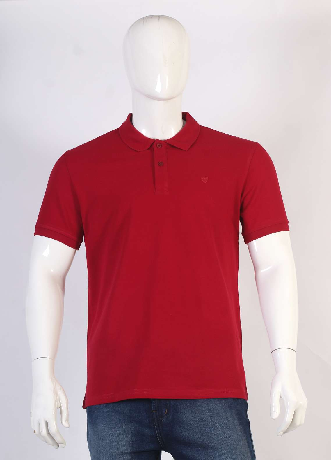 Sanaulla Exclusive Range Jersey Polo T-Shirts for Men - Maroon TKM18S 77