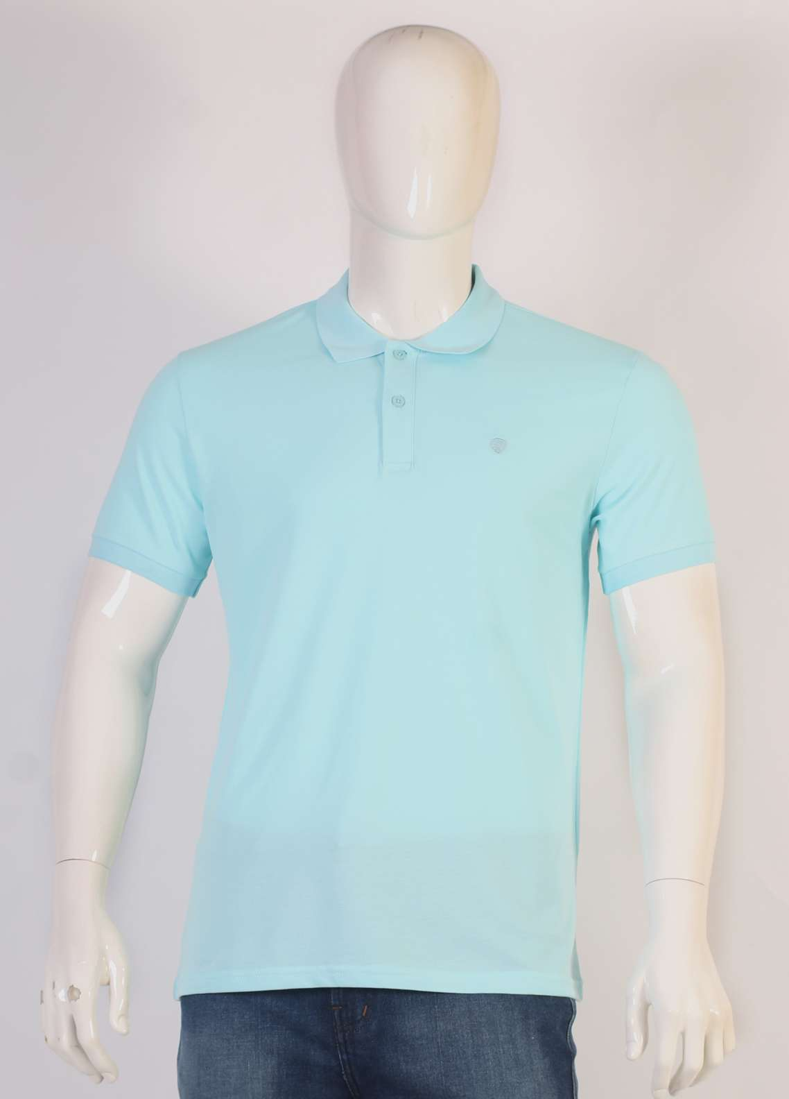 Sanaulla Exclusive Range Jersey Polo T-Shirts for Men - Sky Blue TKM18S 93