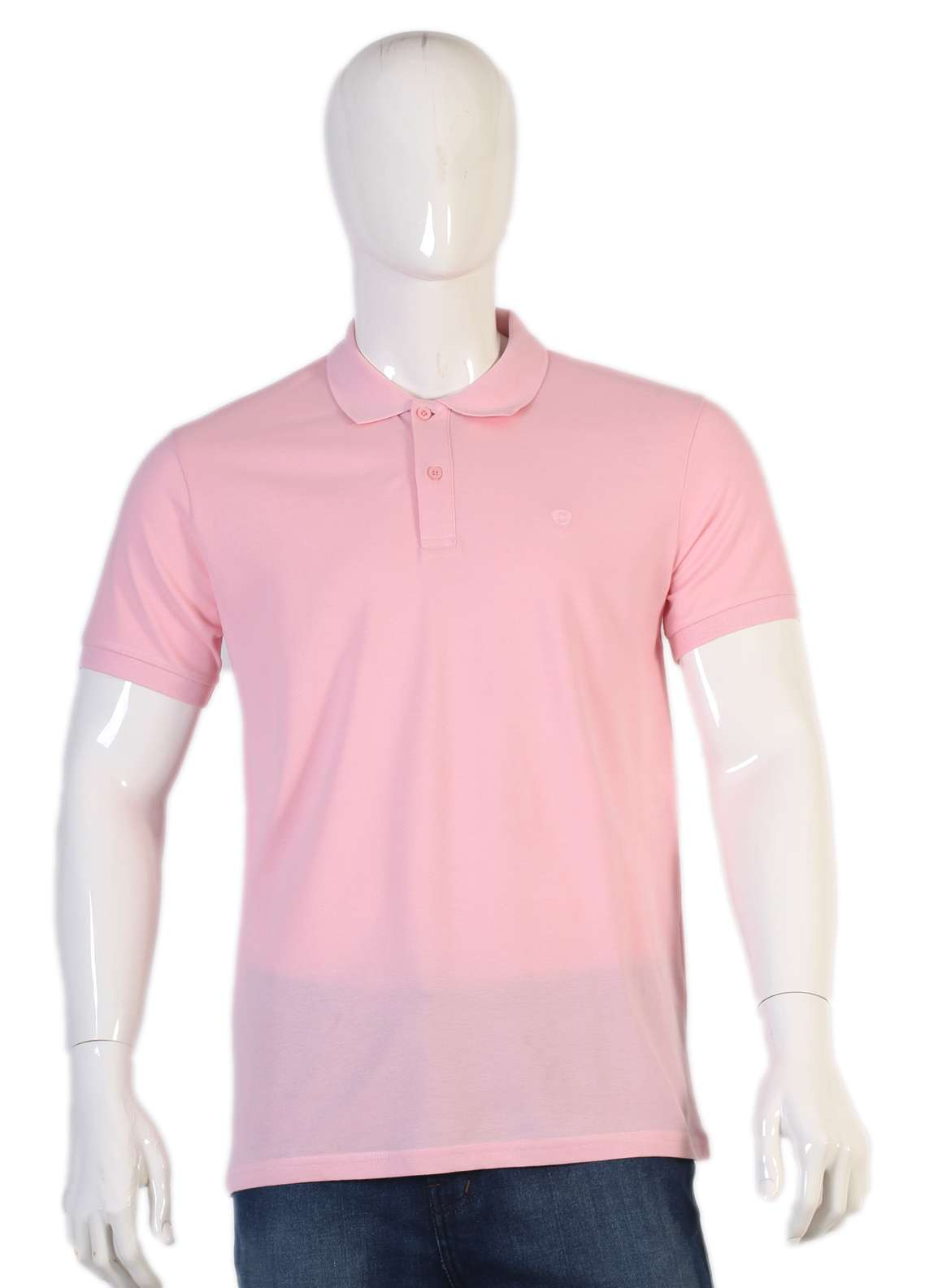 Sanaulla Exclusive Range Jersey Polo Men T-Shirts - Pink TKM18S 97