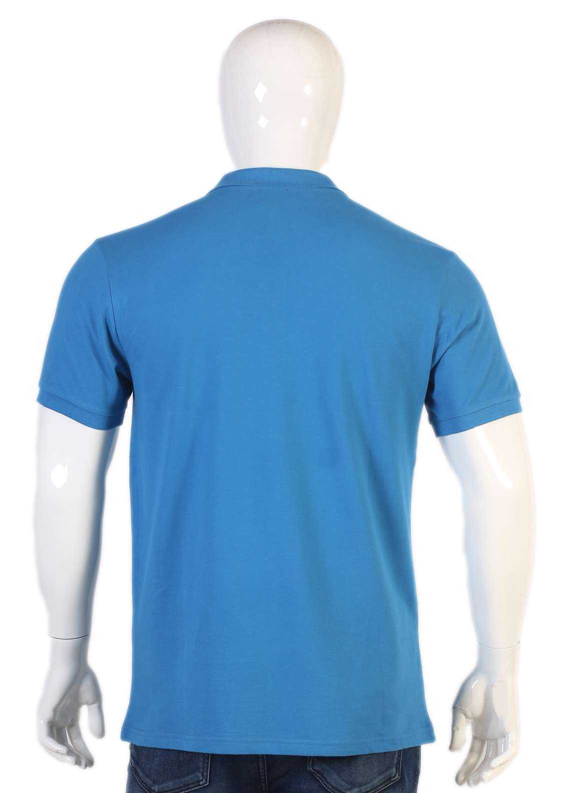 Sanaulla Exclusive Range Jersey Polo T-Shirts for Men - Blue TKM18S V-20